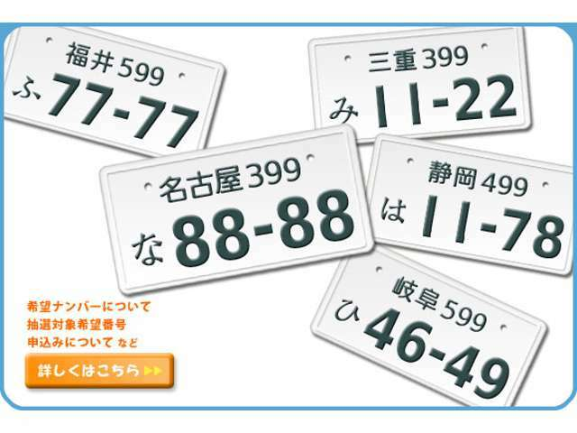 Bプラン画像:ナンバープレートの数字をお好きな数字で作れるプランです☆