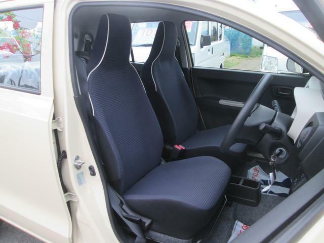 ヘッドレスト一体型のフロントシート