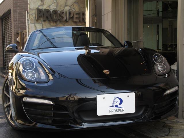 ■2015y Porsche Boxster S PDK スポークロノPKG 20インチカレラクラシックホイール ポルシェダイナミックライト スポーツデザインステアリング シートヒーター オートAC 電格ミラー 正規ディーラー車 1オーナー