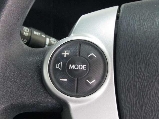 【ステアリングスイッチ】運転しながら安全にオーディオ操作が行えます!