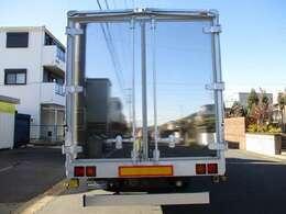 荷箱 日本フルハーフ W5C0098 アルミウイング 最大積載量2700キロ 新規車検時に最大積載量が減トンの可能性があります ラッシングレール 床フック6対 ウイングシート貼り 観音ドア交換済み