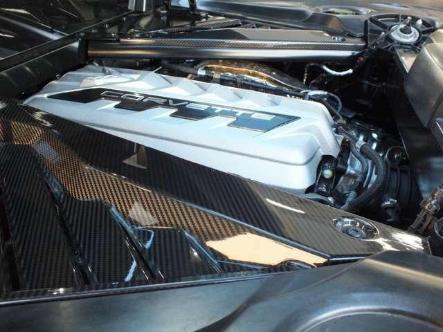 エンジン周辺のカーボンパネルはオプション装備となります。