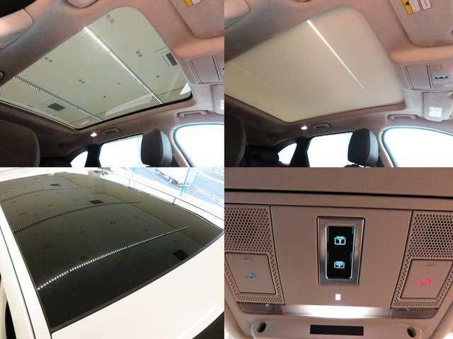 パノラミックルーフ(236,000円)解放感たっぷりのパノラミックルーフは中心に遮るバーがなく、後席からの解放感もよく、車内に明るい光を注ぎ込みます。