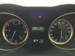 オドメーター 瞬間燃費などが表示されるマルチインフォメーションディスプレイ