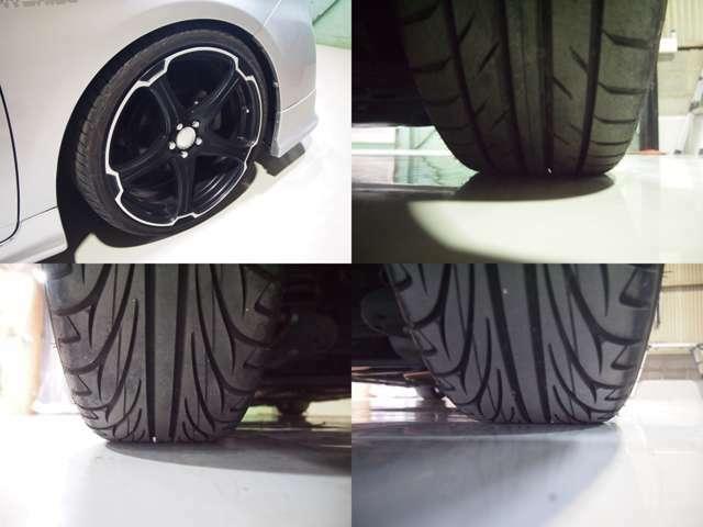 19インチアルミ。。。タイヤの残り溝もバッチリ♪♪♪