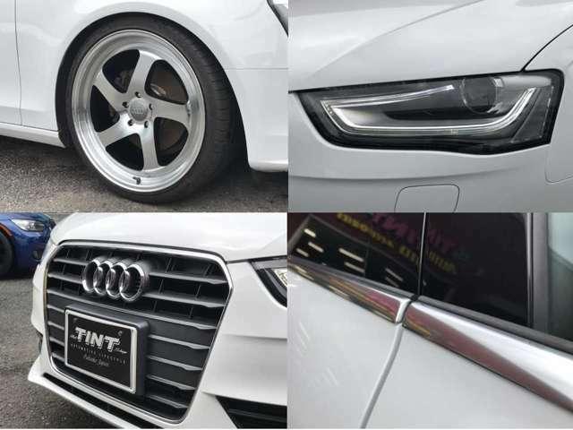 ☆ポリッシュ/ブラックカラーの新品20AWに新品タイヤの組み合わせです☆ヘッドライトレンズ表面綺麗な状態です☆欧州車にありがちなガラスモールのくすみも無くとても綺麗な状態です☆