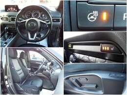 運転席、助手席にはシートヒーター搭載!寒い季節も安心のステアリングヒーターも装備です!