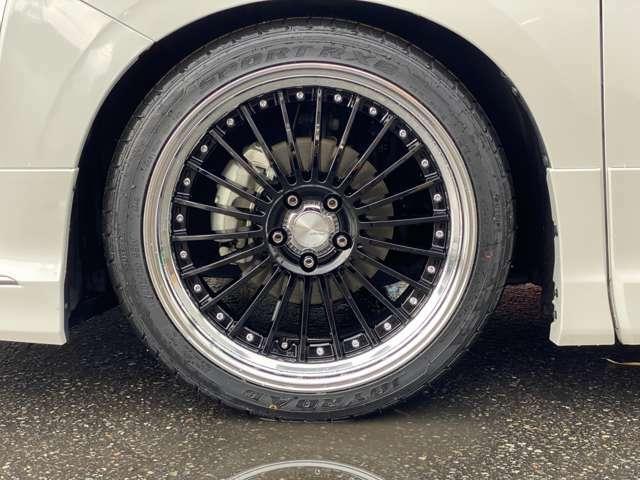 WORK製ランベックLF-1(2Pモデル)ブラックディスク20incアルミホイール新品(デザインナット付)+245/40R20新品タイヤ/TEIN製FLEX-A車高調サスペンションキット(全長式)☆4輪アライメント調整致します☆