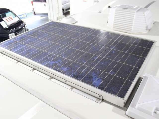 ソーラーパネルも装着されています。