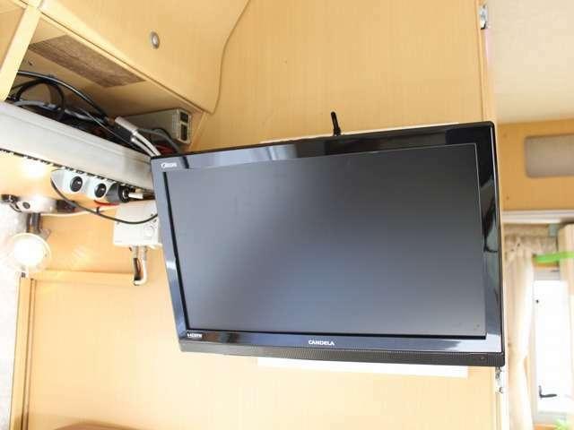 19インチTVも装着されています。