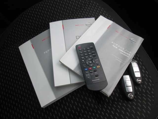 便利なインテリジェントキー仕様&取り説、整備記録簿 完備です。