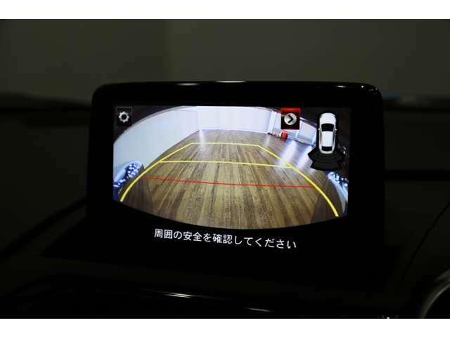 ディーラーオプションのリバースギア連動バックカメラ装備!!