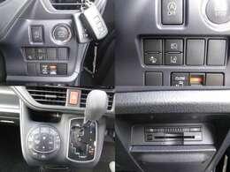 便利なスマートキー車♪追突防止のプリクラッシュセーフティーやオートハイビーム機能など!安全装備充実の車両です☆左側は電動スライドドアですよ♪年中快適なオートエアコンにビルトインETCも装備済み♪