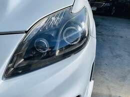 純正加工イカリングヘッドライトです。納車後の車検などもお任せください!