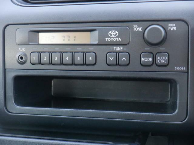 オーディオはAM・FMラジオが使えます。快適ドライブの強い味方です!