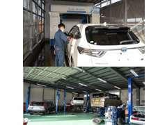 運輸局認証工場完備でお客様の大切なお車を真心こめて整備いたします。又タイヤ交換、車検、各種油種交換も当社お任せください。