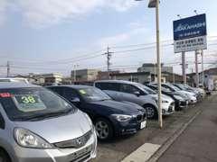 本社展示場にはミニバン・普通車、軽自動車を100台~展示中