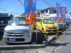 人気の軽自動車からコンパクト・セダン・ミニバン・SUVまで幅広いラインナップを展示中です。
