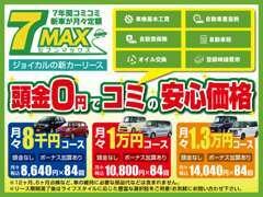 全てコミコミで頭金0円!新車が月々定額で乗れるカーリース!