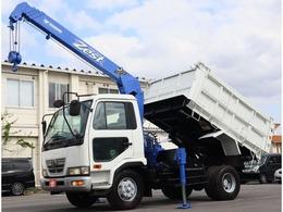 UDトラックス コンドル 4段クレーン付深ダンプ ショート・積載2.5トン・電動コボレーン