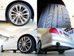 19インチが似合ってますね タイヤは 交換時期ですね、海外格安タイヤから 国産高品質タイヤまで 格安で承ります