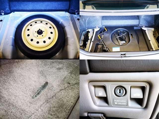 パンク修理キットも良いですが やっぱり スペアタイヤは安心ですね