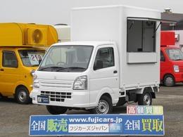 スズキ キャリイ 660 KCエアコン・パワステ 3方開 新規キッチンBOX 換気扇 作業台 シンク