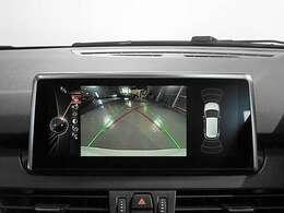 リアビューカメラと前後障害物センサー(PDC)装備、さらにパーキングアシスト付きなので、駐車をサポート。