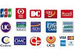 各種クレジットカードがお使いいただけます!!