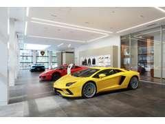 最新CIに準じた新たなショールーム。限定車も含め、あらゆるモデルがディスプレイされております。