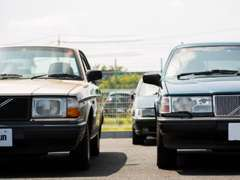 名車850や240から現行モデルのV60、V40までボルボ専門店ならではの商品多彩なラインナップ。