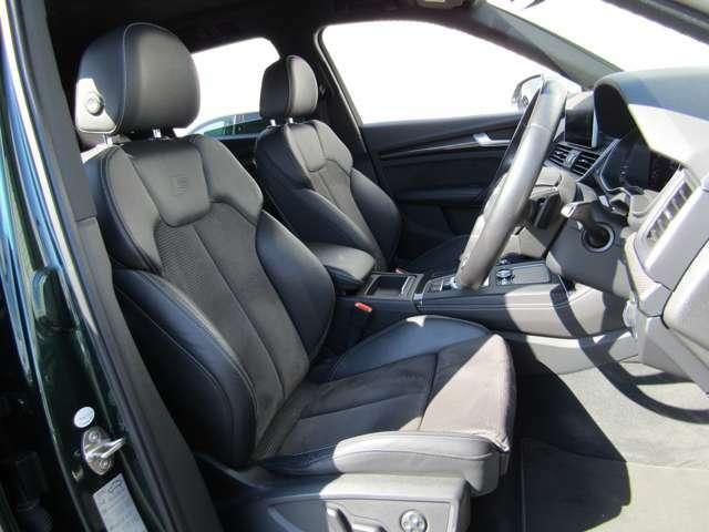 長時間の運転でも疲れを感じにくい、適度な硬さのシートです!