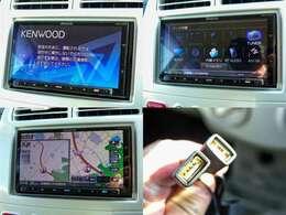 KENWOOD製4チューナー&4ダイバシティ方式地上デジタルTVチューナー内蔵DVD/USB/SD/BT AV ナビ「MDV-Z700」ついています