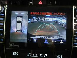 アラウンドビューモニターを装備!【駐車の際、ナビ画面に車を真上から捉えた映像が映ります。駐車の際にとても便利な装備です♪】