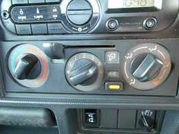 移動時の車内も快適に マニュアルエアコンです