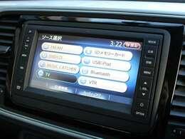 新車時オプションの地デジナビゲーション、フルセグTV、リアビューカメラも装備されています