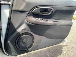 ダイアトーンDS-G500スピーカーをアウター取付してあり高音質を実現