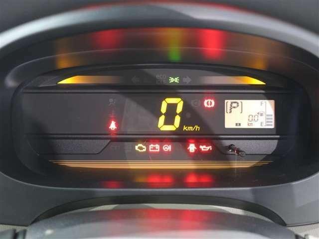 見やすいデジタルメーターで走行スピードが一目でわかります!