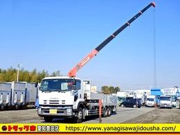いすゞ フォワード 平ボディ アルミブロック 増トン 5段クレーン 大型 9.8t積