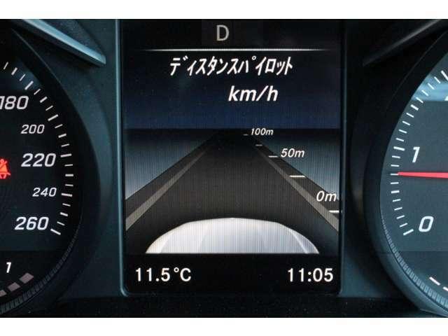 レーダーセンサーにより先行車を認識して、速度に応じて車間距離を適切にキープするシステム