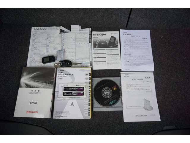 ☆取説(車輌・ナビ・ETC・Egスタ・フロアマット)&記録簿3枚(H28・30・R3)&キーレスキー1本&スペアキー1本&Egスタリモコン&ナビロックナットキー&ナビセットアップディスク が揃っております♪