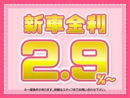 新車特別金利2.9%ローンキャンペーン中♪