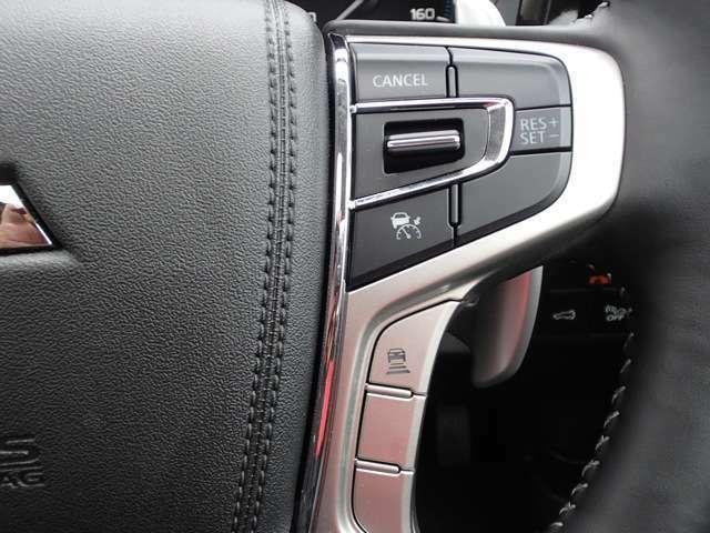 レーダークルーズコントロールは前走車との車間を一定に保ちます。