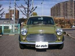 平成5年式、緑と白のツートンカラーのミニ、入庫しました!!