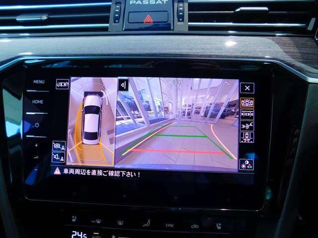 ☆アラウンドビューモニター☆いろいろな角度から車の位置を確認できます!
