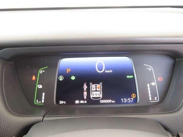 スーピードメーターを中心に置いたデジタルメーター★メーター内には多彩な情報を表示してくれる★インフォメーションディスプレイ★