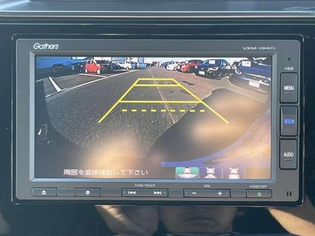 バックカメラで駐車、車庫入れも安心です!障害物も確認出来てバックが苦手な方にお薦めです!