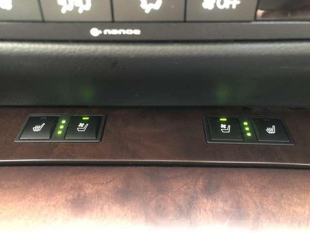 シートシーター&シートエアコン装備です。