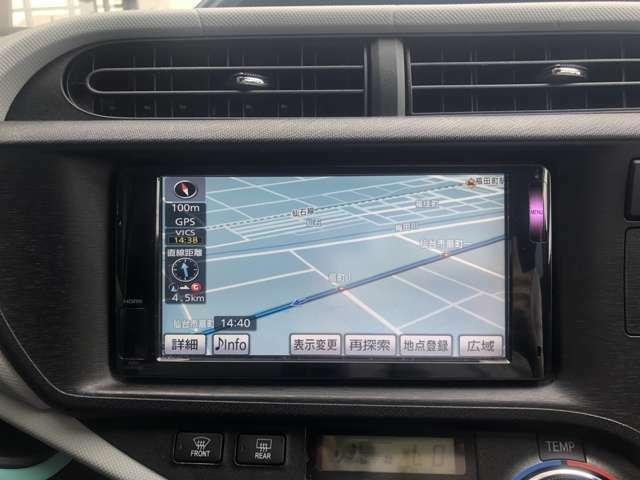 純正HDDナビ装備です。フルセグTV・CD&DVD再生・Bluetooth接続可能♪