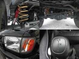 社外サスでリフトアップ 輸出対応ヘッドライト 2WDから4WD切替可能